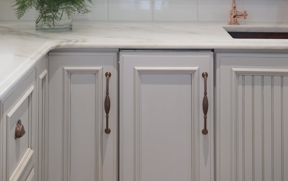 Dura Supreme Cabinetry is shown in a