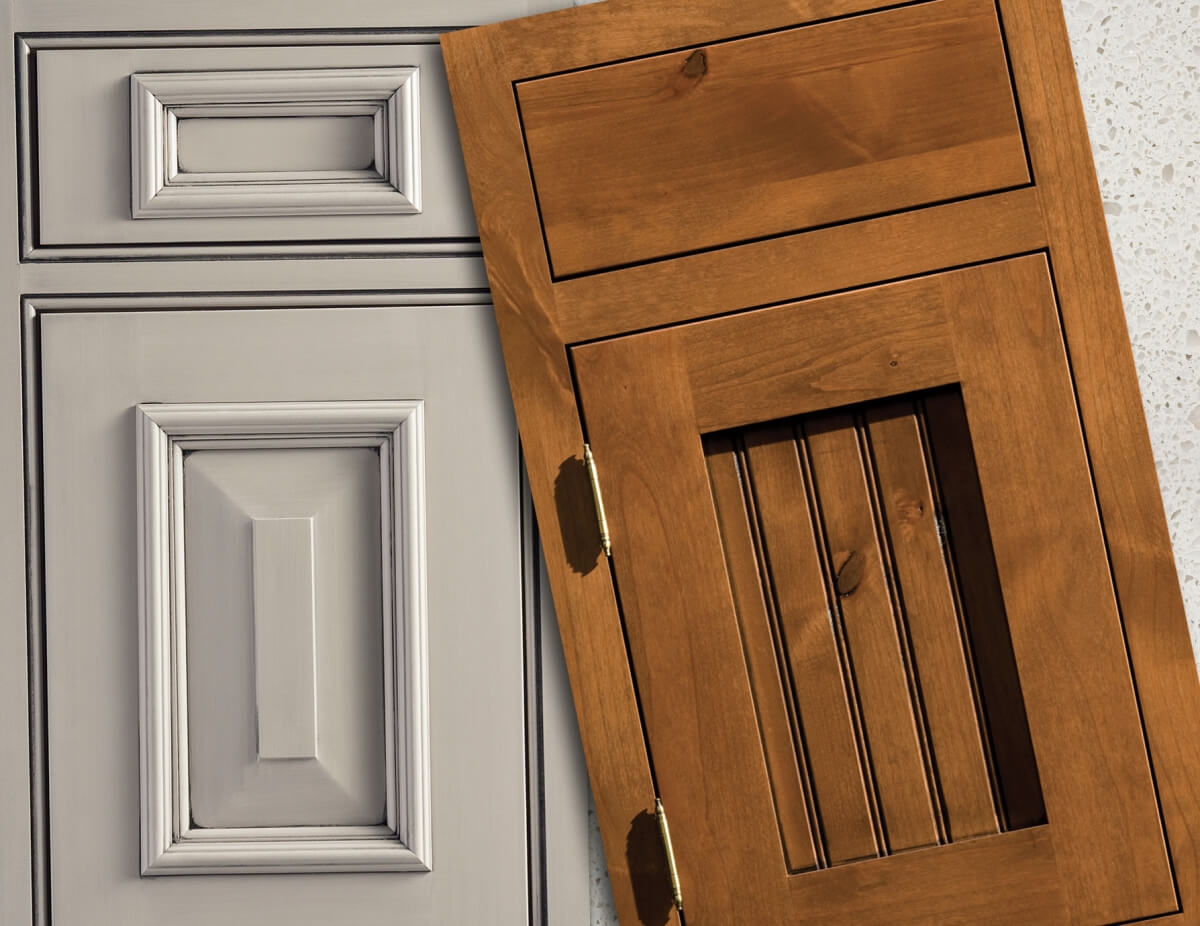 What is the Difference Between an Accent and a Glaze Cabinet Finish?