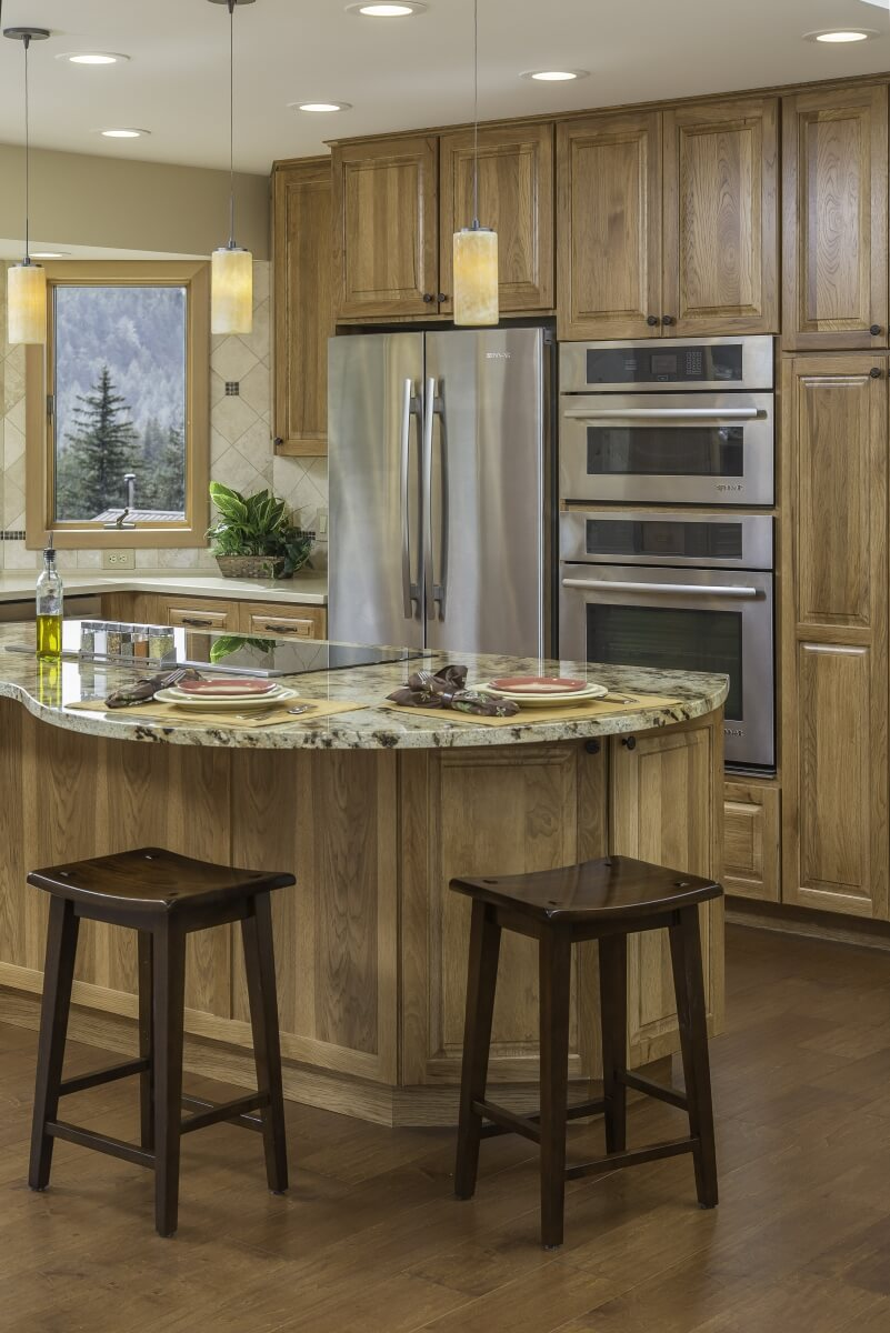 Design by Danielle Bohn, CKBD of Creative Kitchen Designs, Alaska featuring an example of a Cook Zone in a Dura Supreme kitchen.