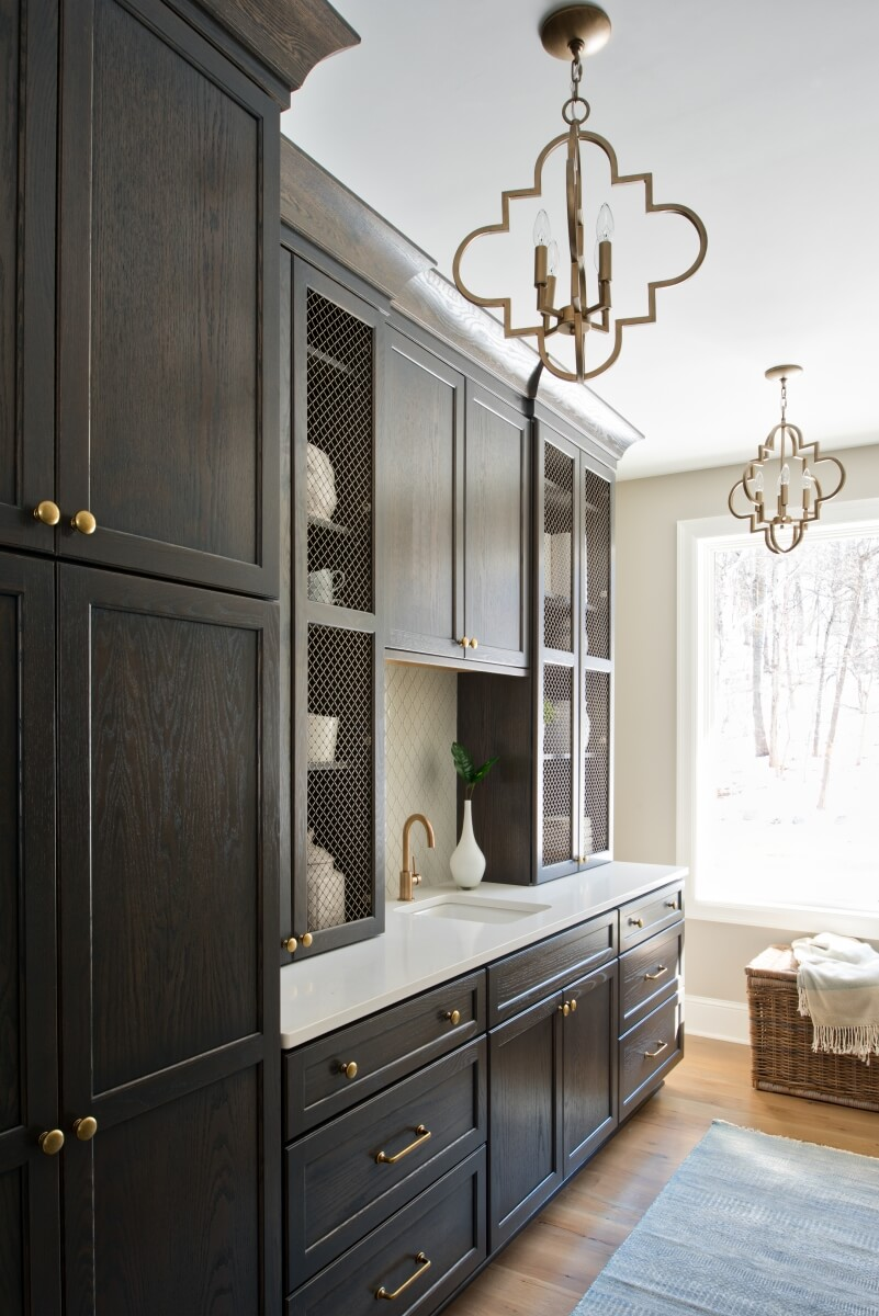 A butler's pantry by Megan Dent of Studio M Kitchen & Bath, Plymouth, Minnesota. Featuring Dura Supreme Cabinetry.