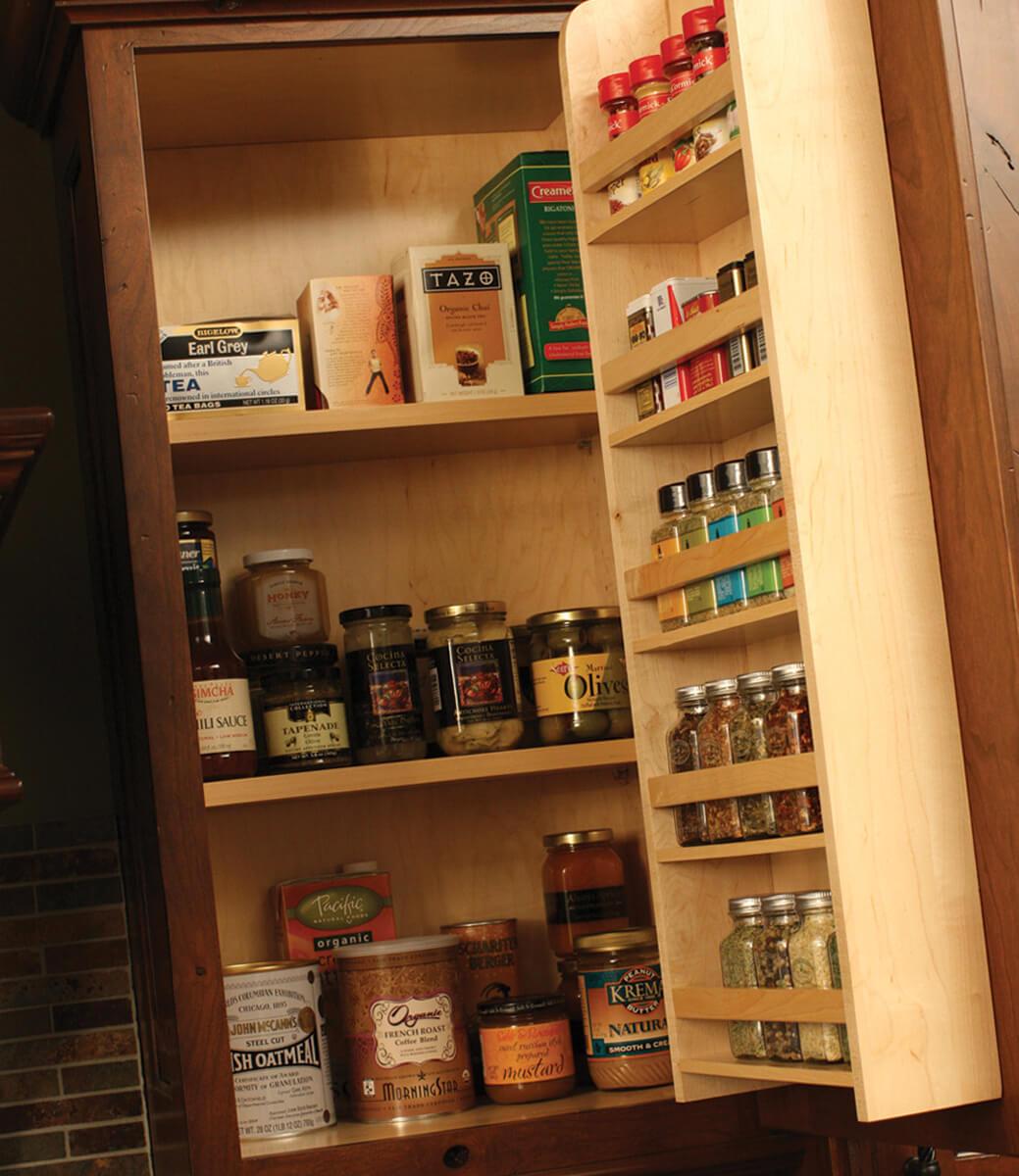Smart Kitchen Design Genius Ways To, Spice Storage For Kitchen Cabinets