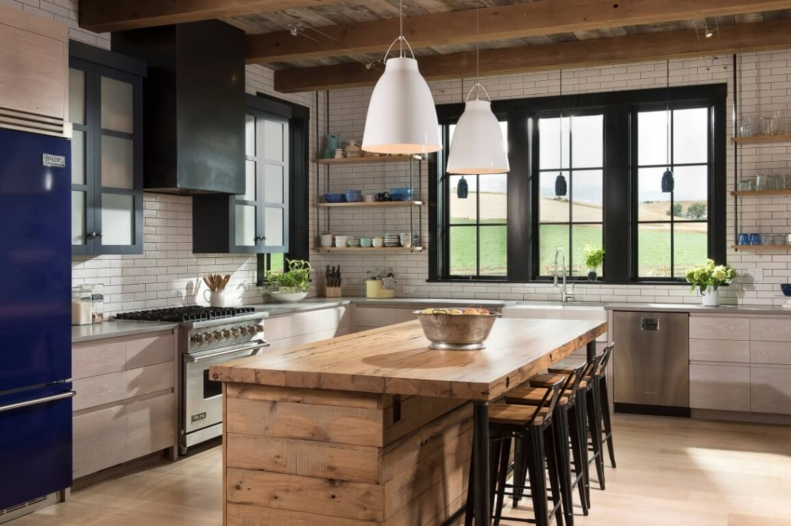 Blue RF, Lighting and Stoneware, North Fork Builders of Montana, Inc., Locati Architects, LongViews Studio