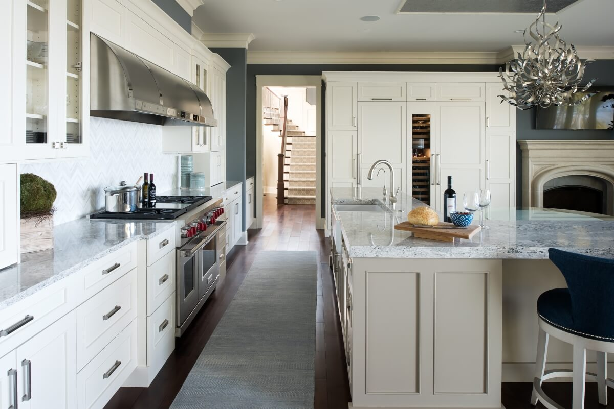 Dura Supreme Cabinetry kitchen by Michels Homes. Photography by Landmark Photography.