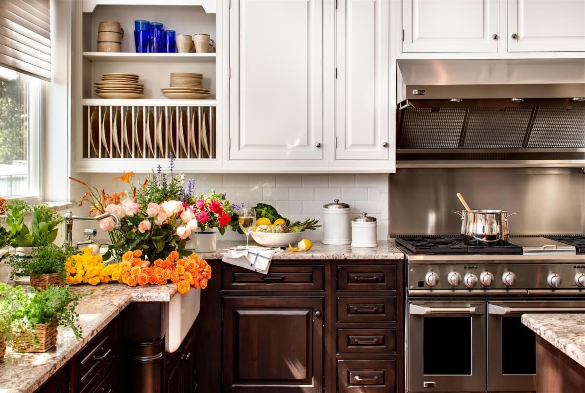 Dura Supreme Cabinetry design by Kim Hoegger of Kim Hoegger Home, Texas.