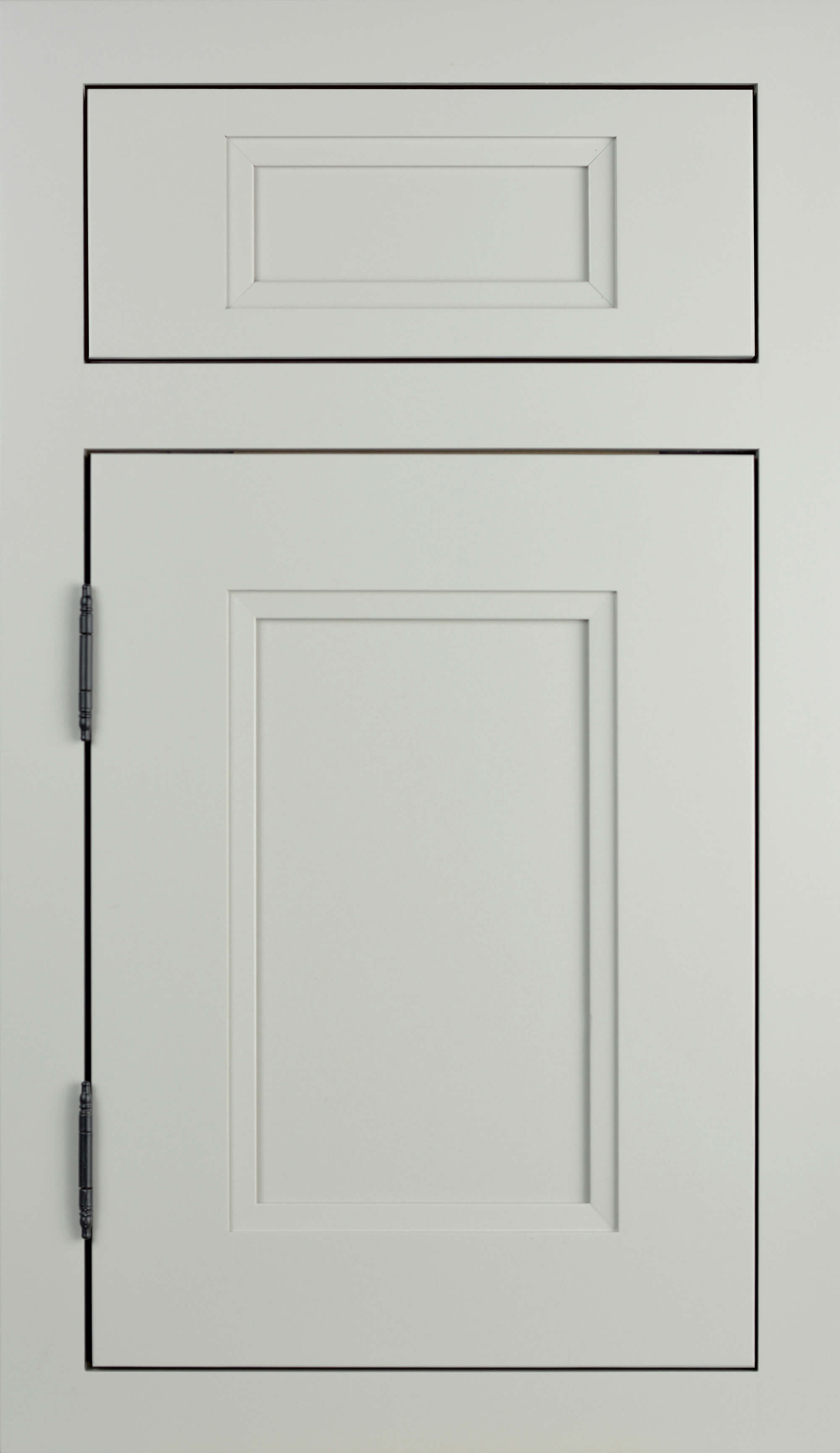 Dura Supreme Cabinetry, Inset Styling with Barrel Hinging on the Dempsey-Inset door style