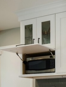Dura Supreme Cabinetry, Stay-Lift Door Hinging