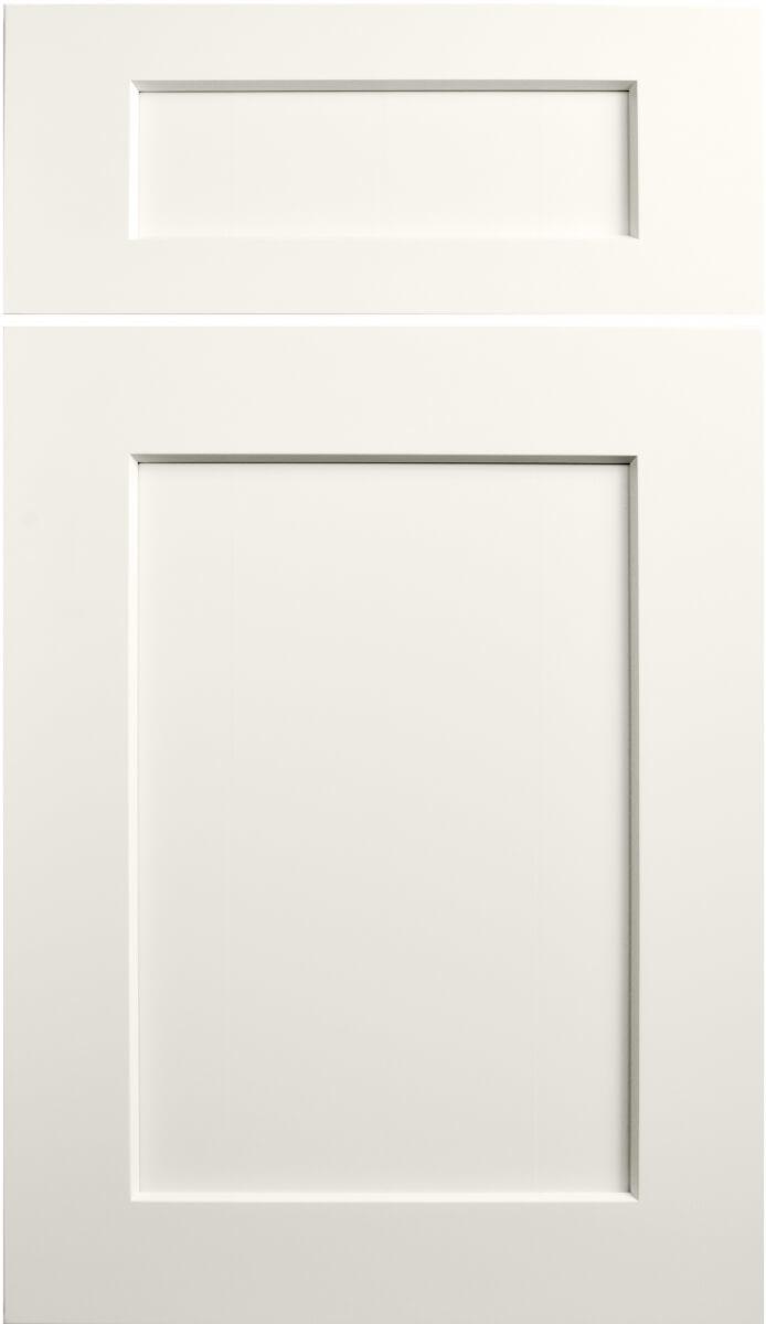 Dura Supreme's Carson Door Style, finished in Linen White