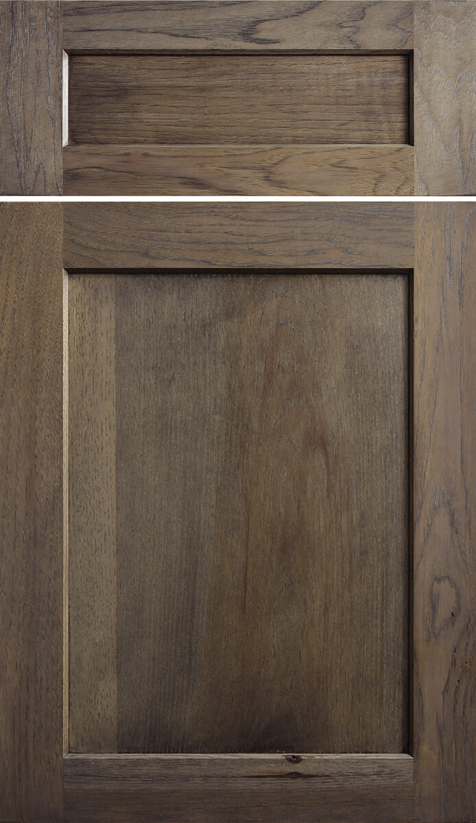 Dura Supreme's Hudson Door Style in Hickory with a Caraway finish