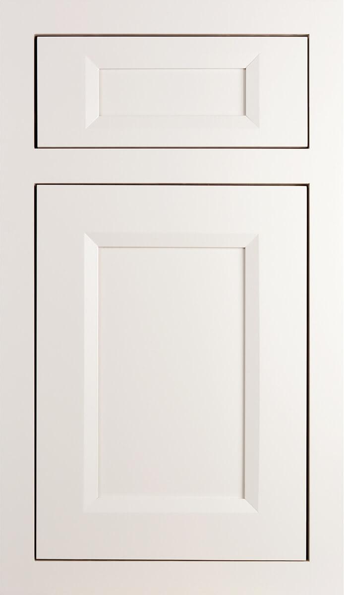 Dura Supreme's Lauren Door Style in Inset, finished in Linen White