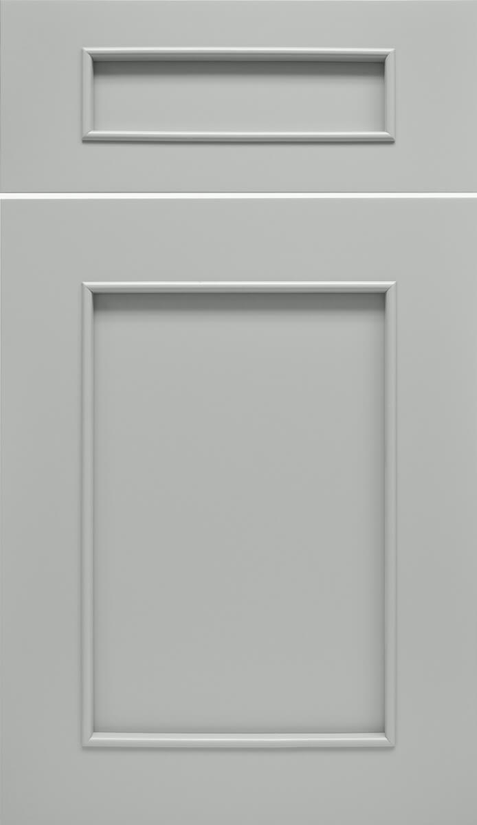 Dura Supreme's Silverton Door Style finished using Personal Paint Match Program, Sherwin Williams Unusual Grey