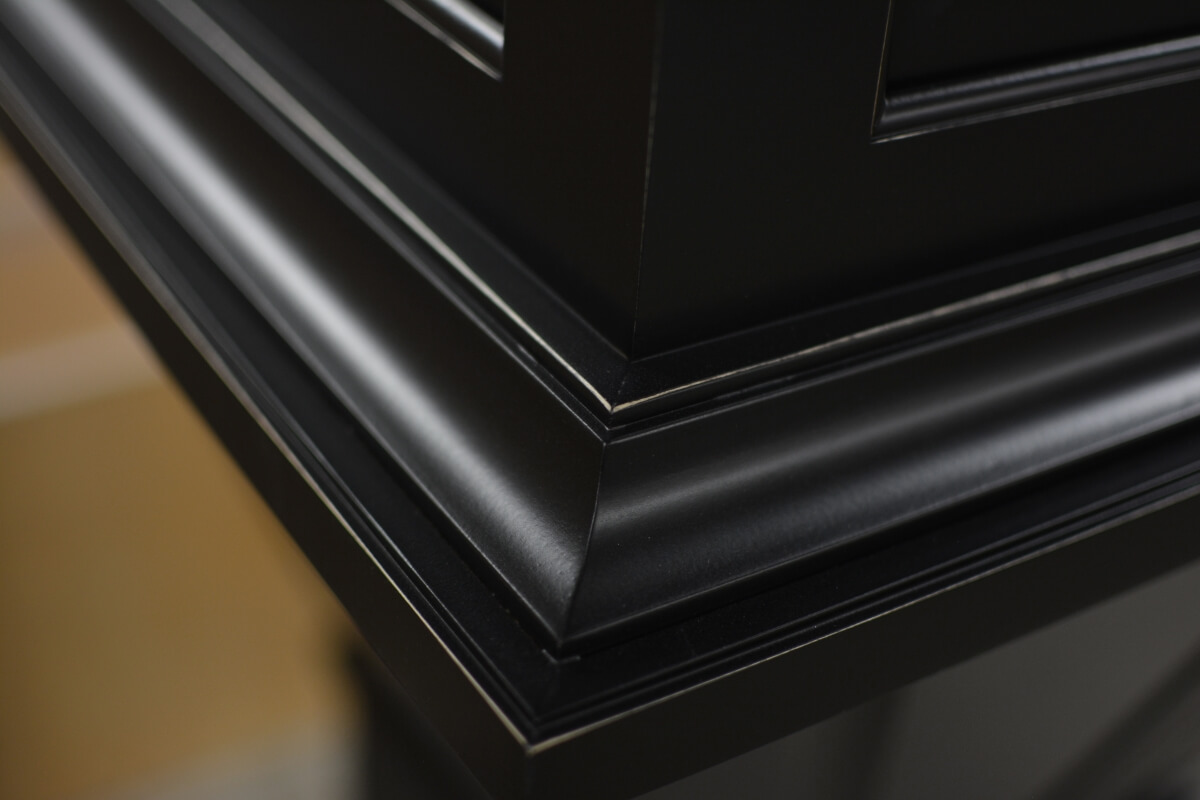 Dura Supreme factory floor shot of an artisan, hand-detailed cabinet finish.
