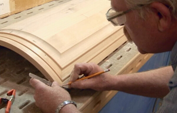 Our beautiful curved wood doors are hand-crafted one at a time.