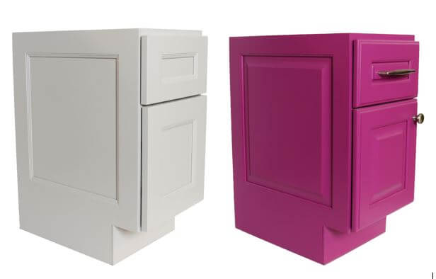 Decorative End, Flat Panel and Raised Panel, Dura Supreme Cabinetry