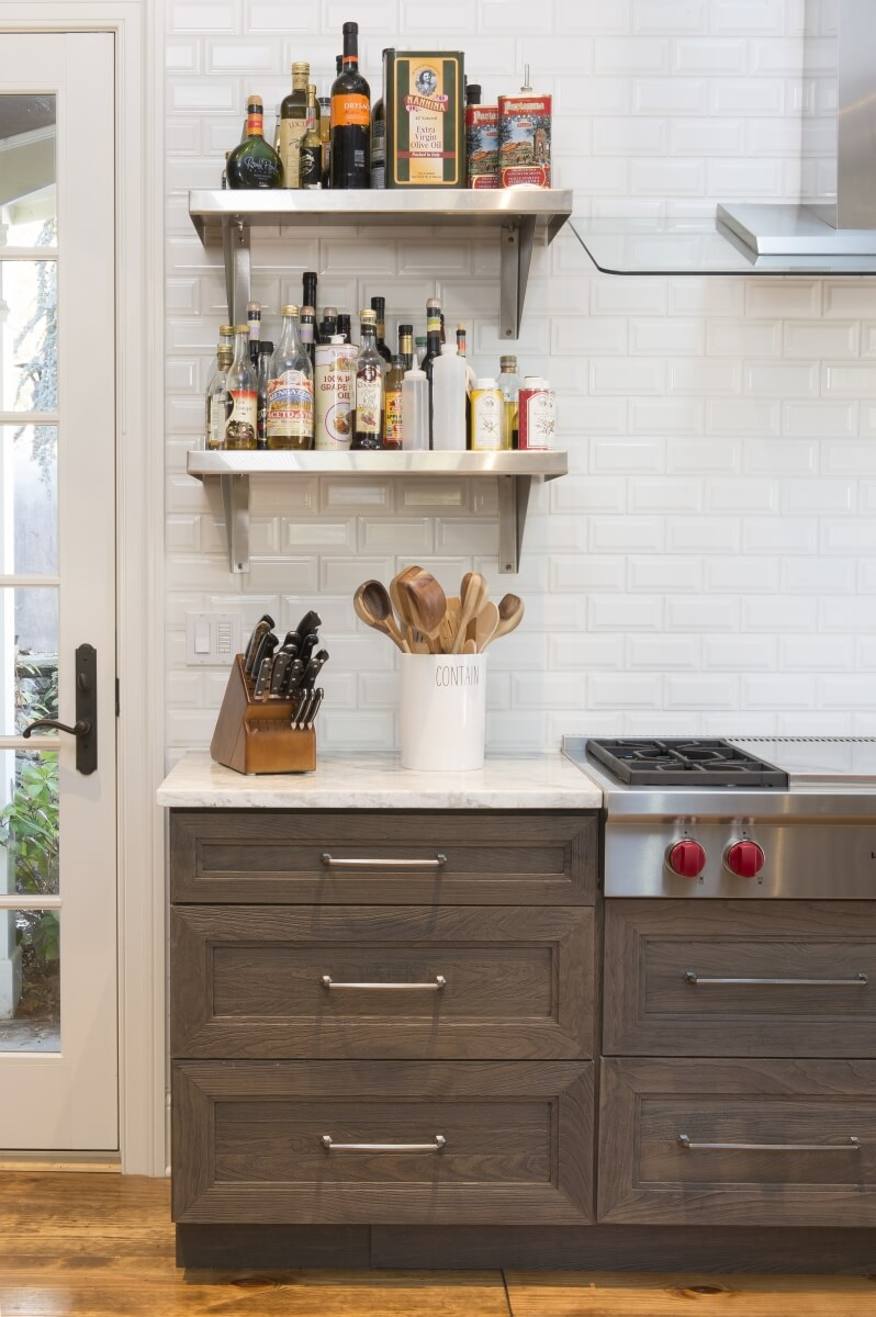 Dura Supreme Weathered Cabinetry designed by Jenny Rausch of Karr Bick Kitchen & Bath, Brentwood, MO. Photo by Studio 10Seven