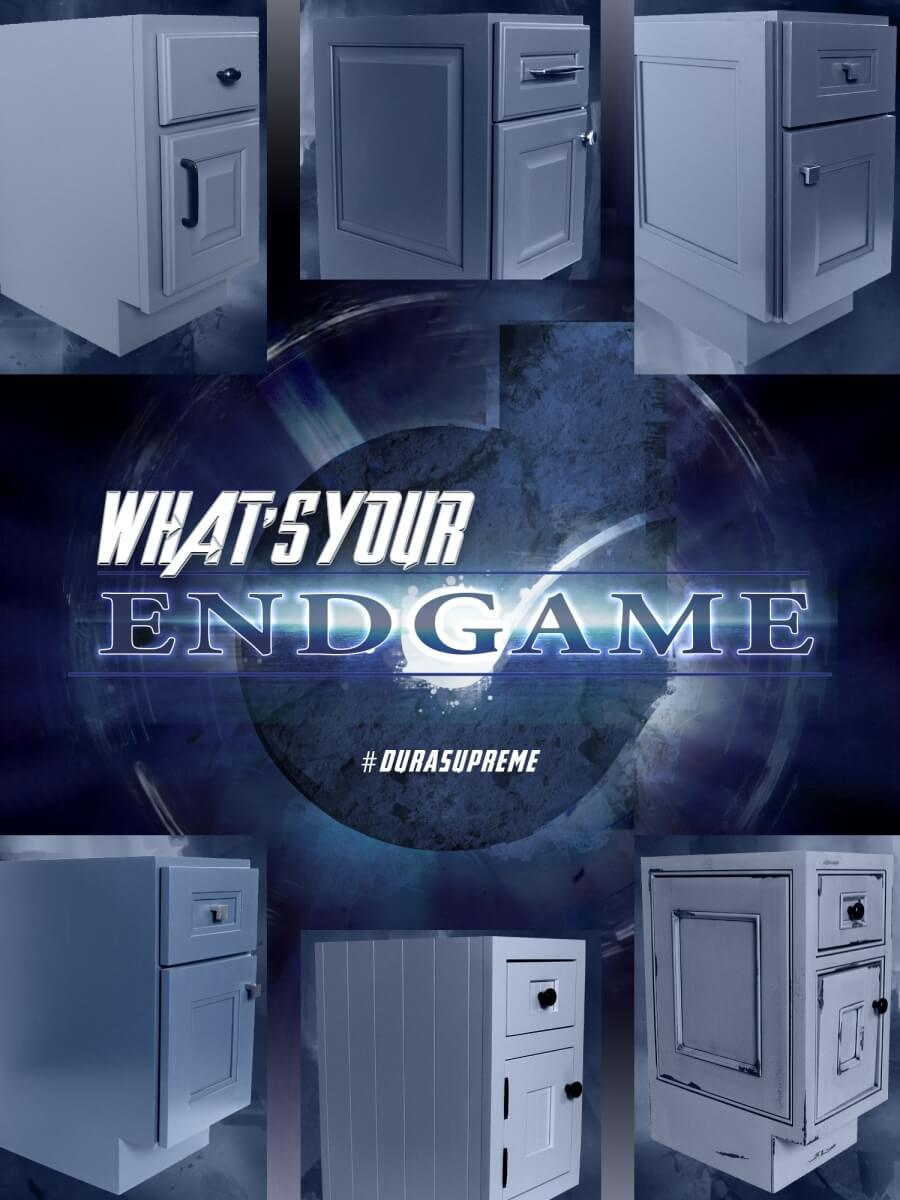 What's Your End Game - Kitchen Cabinets Cabinet End Cap Options from Dura Supreme Cabinetry