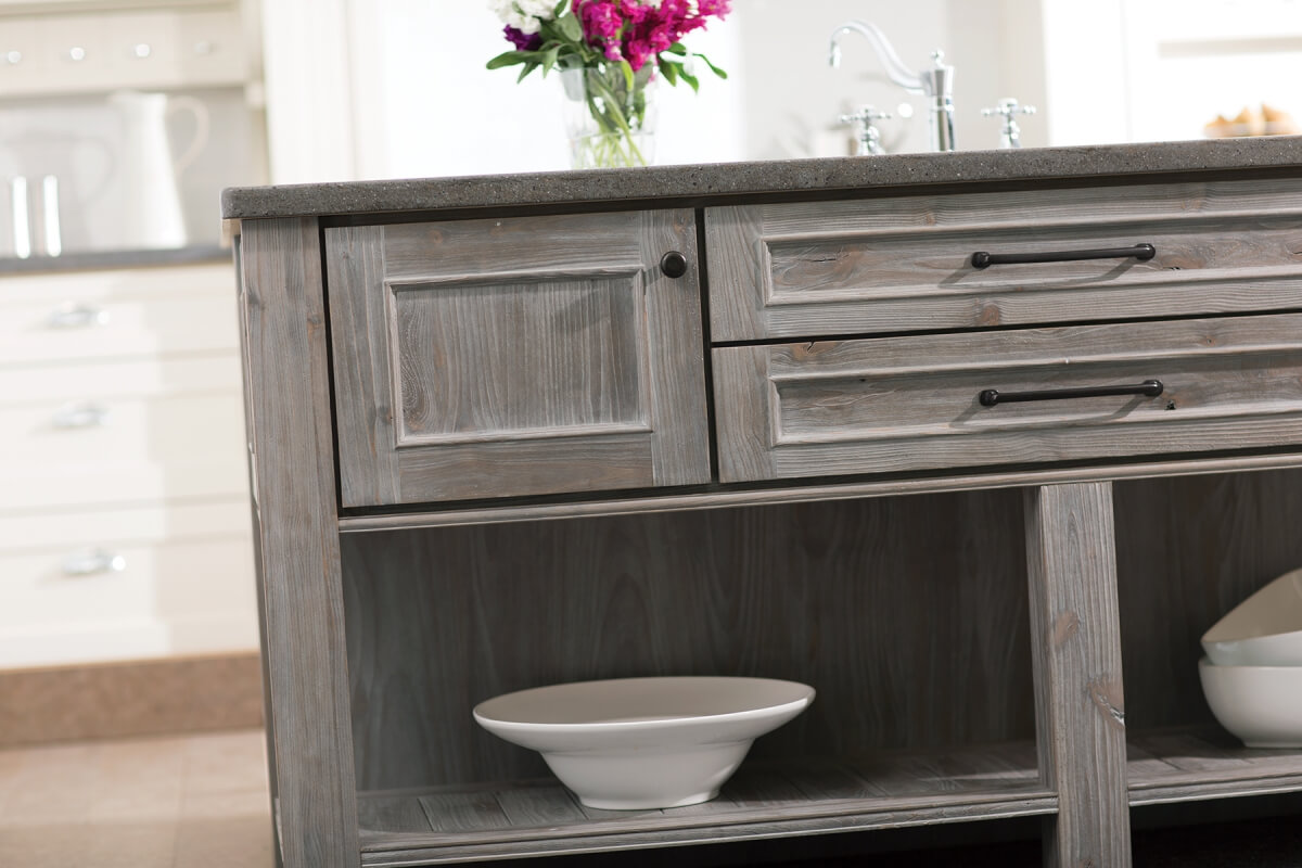How to Use Weathered Cabinetry as an Accent. Dura Supreme's Weathered