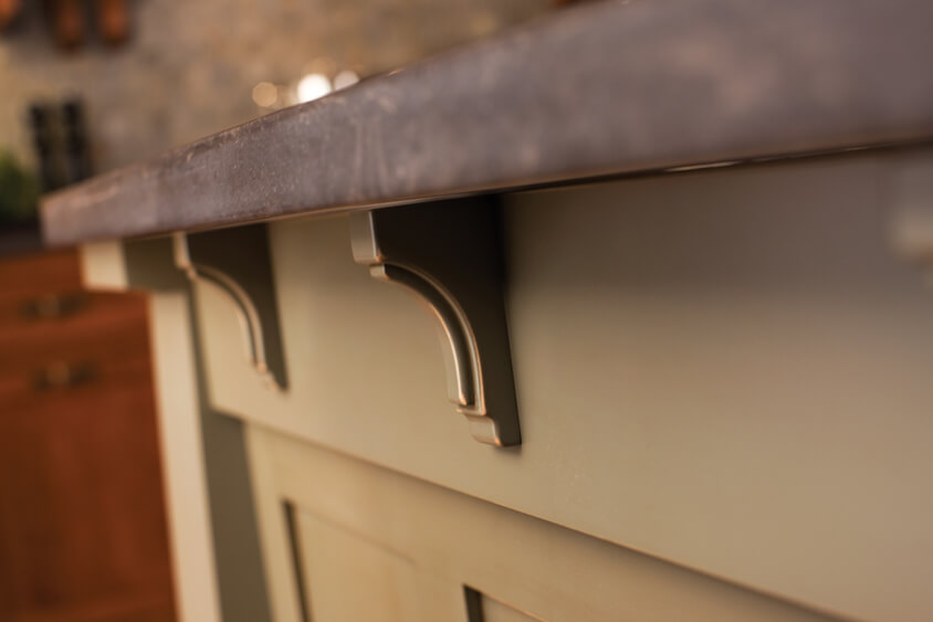 Small corbels are often repeated in molding stacks and below countertops.