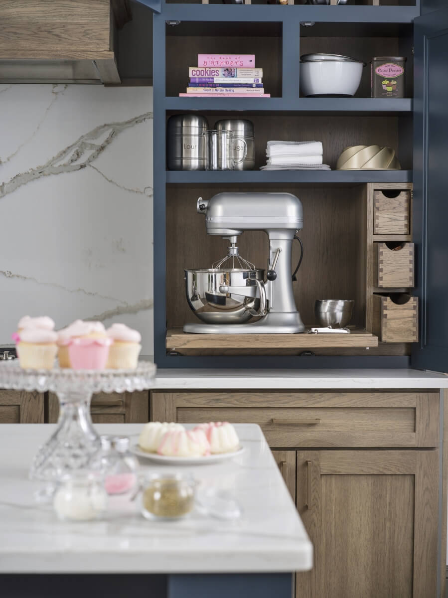 A Baking Center Larder Cabinet by Dura Supreme Cabinetry