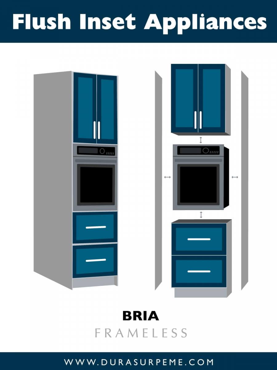 Kitchen design Tips - Flush Inset Appliances