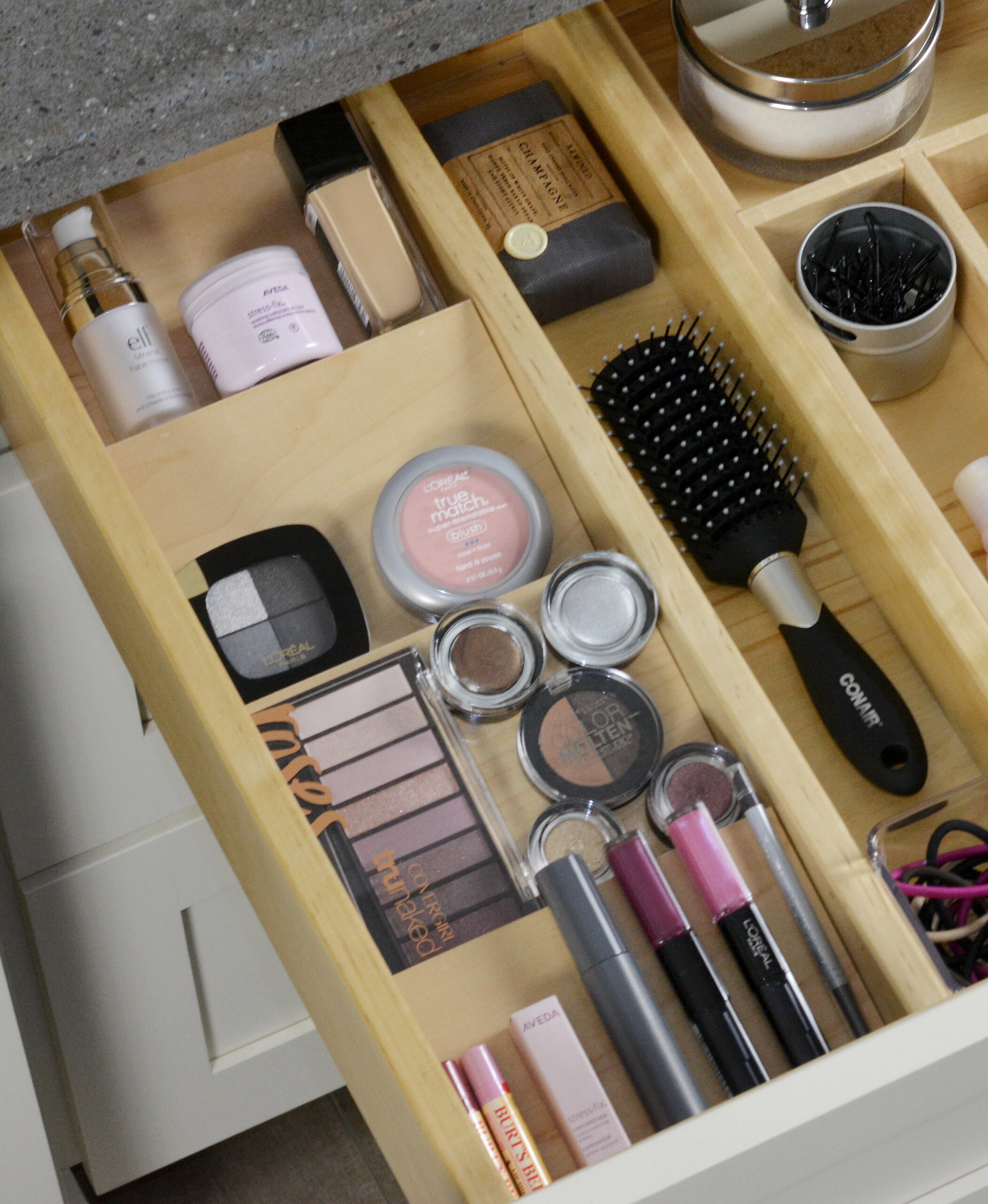 Drawer Spice Rack (For the Bathroom)