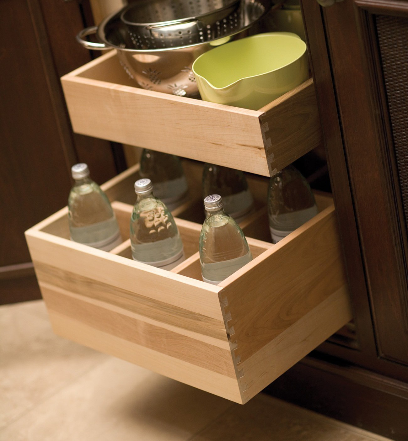 Roll-Out Bottle Rack