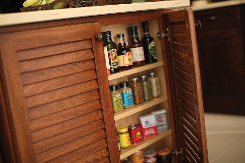 Island Open Spice Rack or Doors
