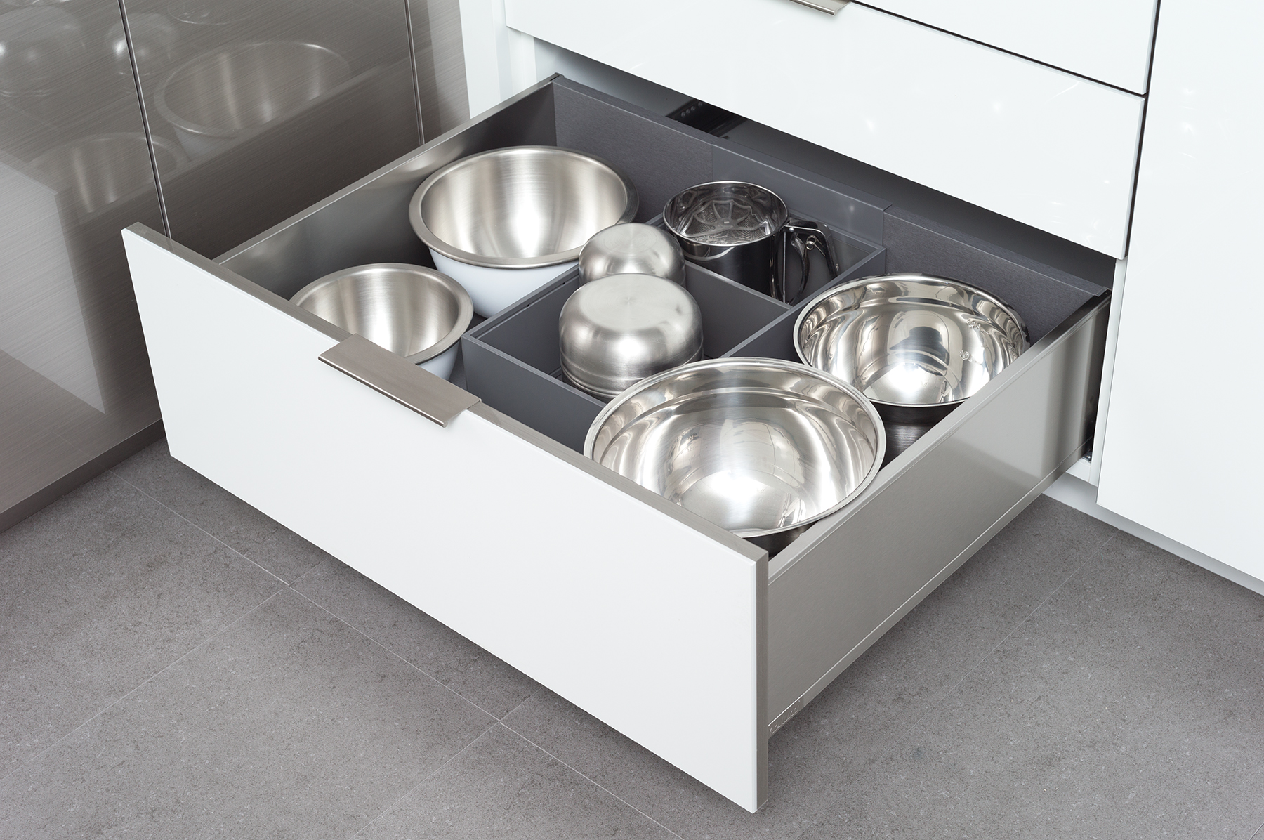 Deep Drawer Organizer for Stainless Steel Drawers