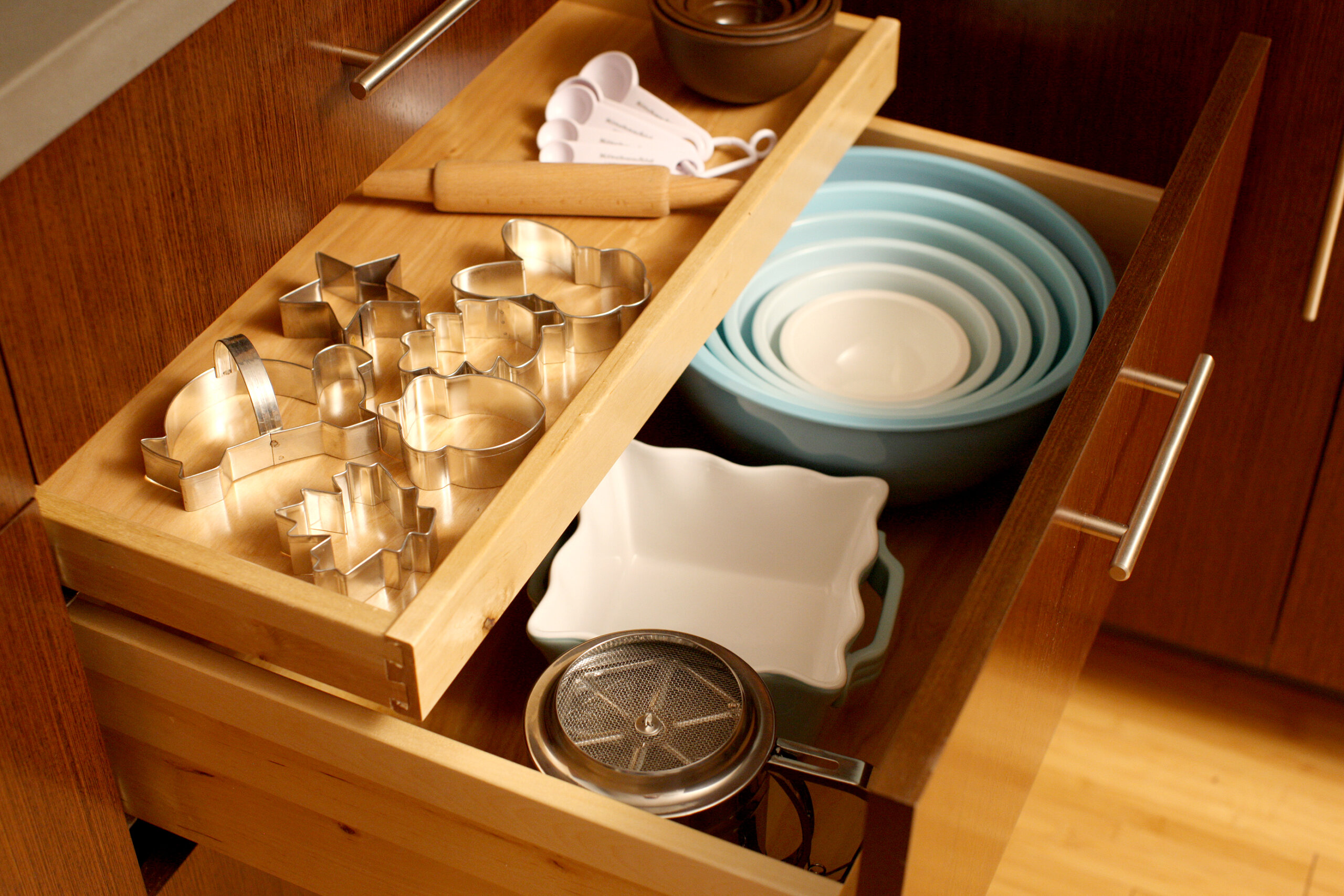 Shallow Roll-Out Above Drawer - Misc. Baking Storage