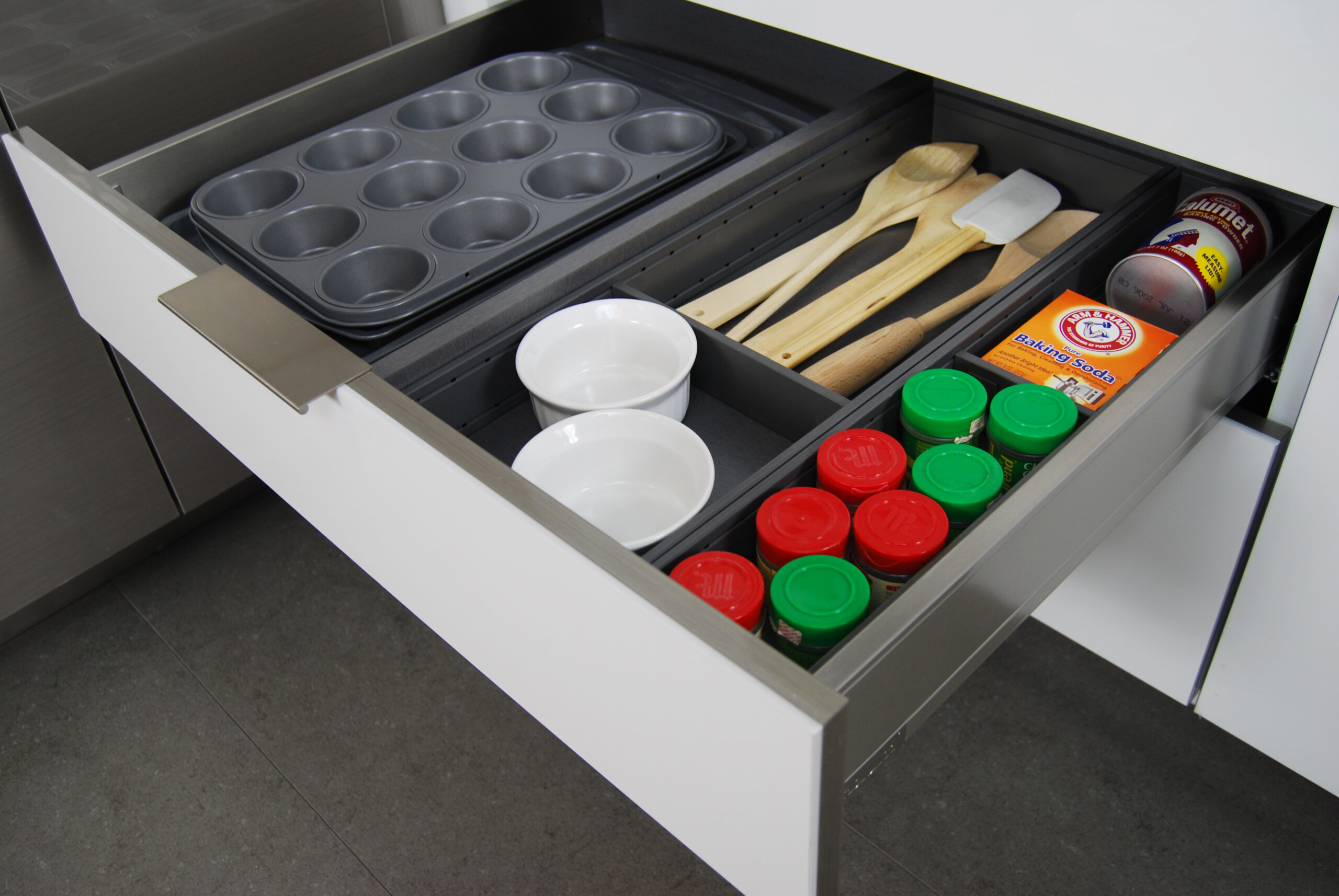 Utensil Organizer and Partition for Stainless Steel Drawer