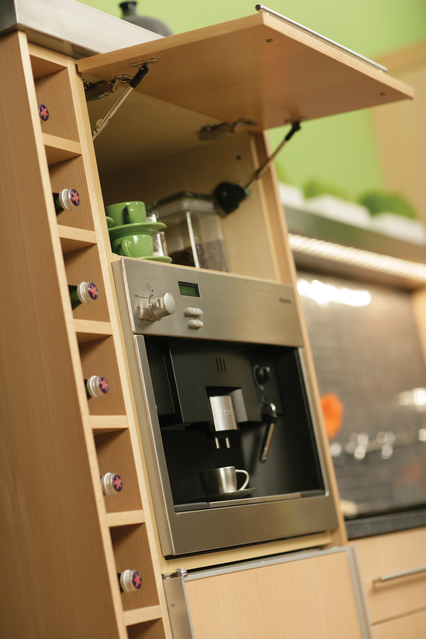 Wine Rack and Wall Hinge Top Beverage Center
