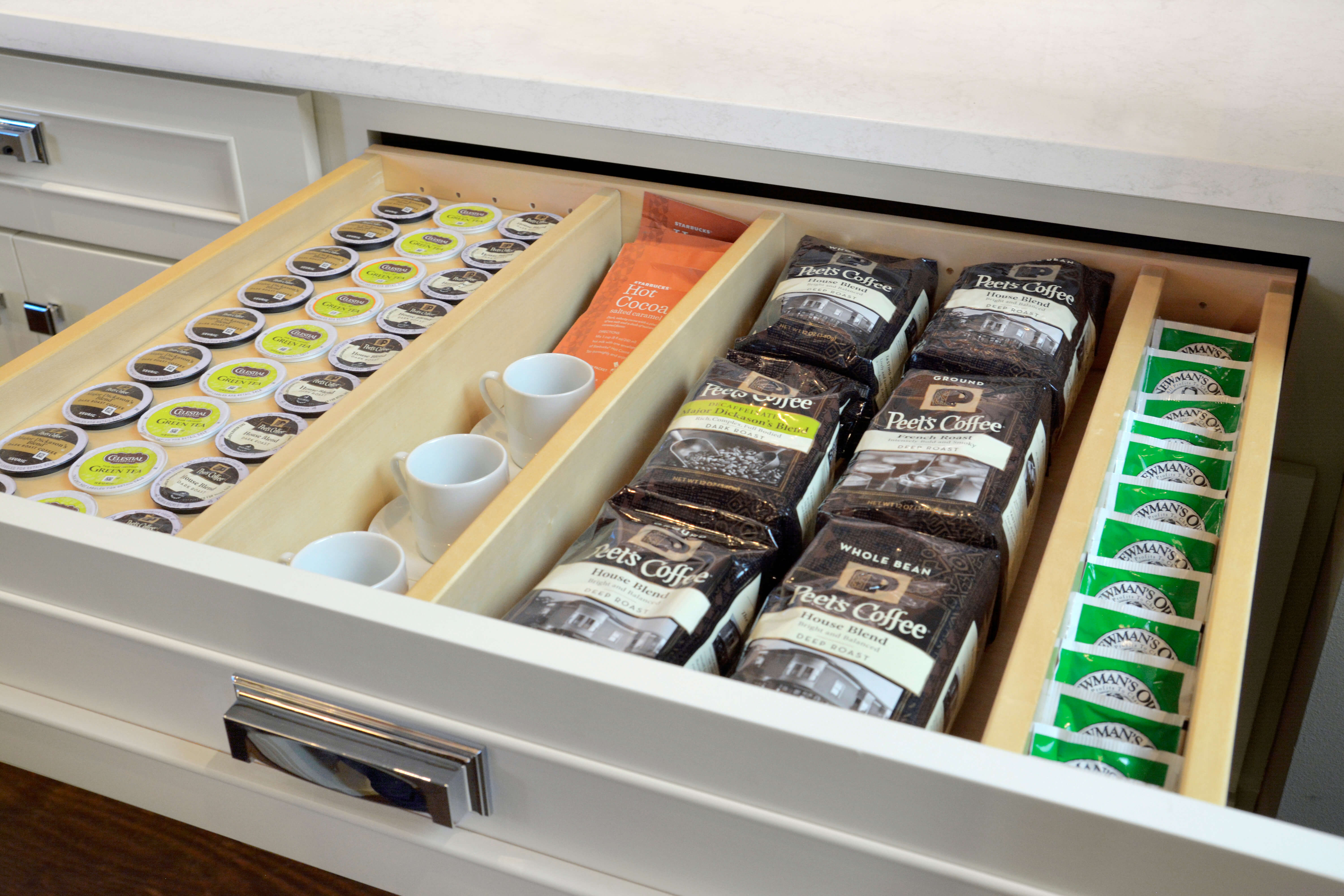 Drawer K-Cup Organizer with Drawer Partitions