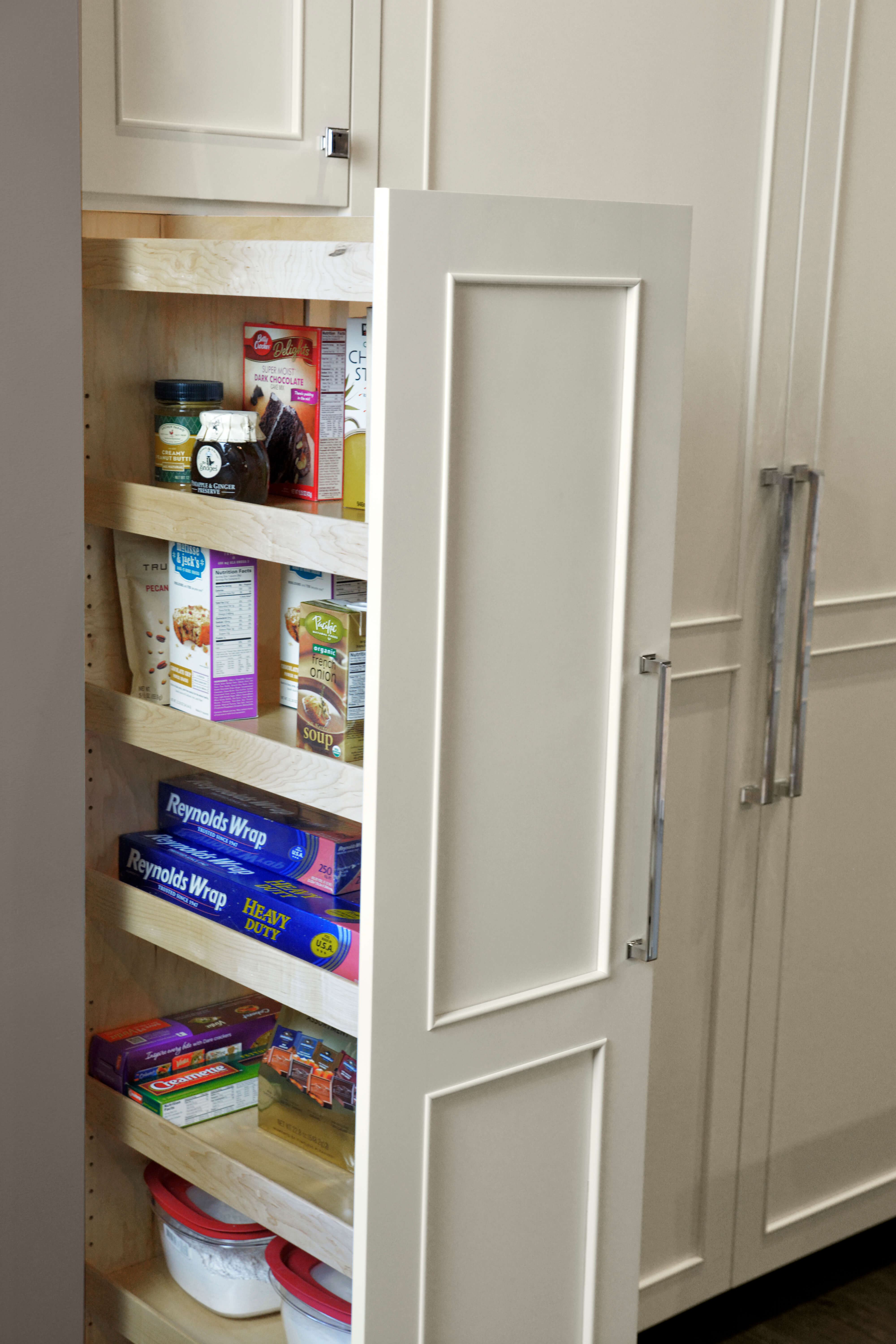 Tall Pull-Out Pantry - Wood