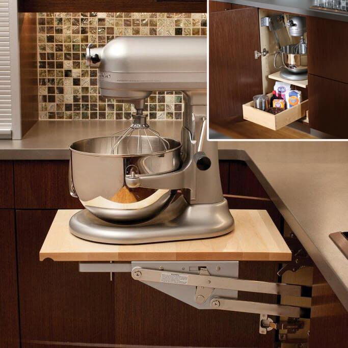 Base Swing-Up Appliance Shelf