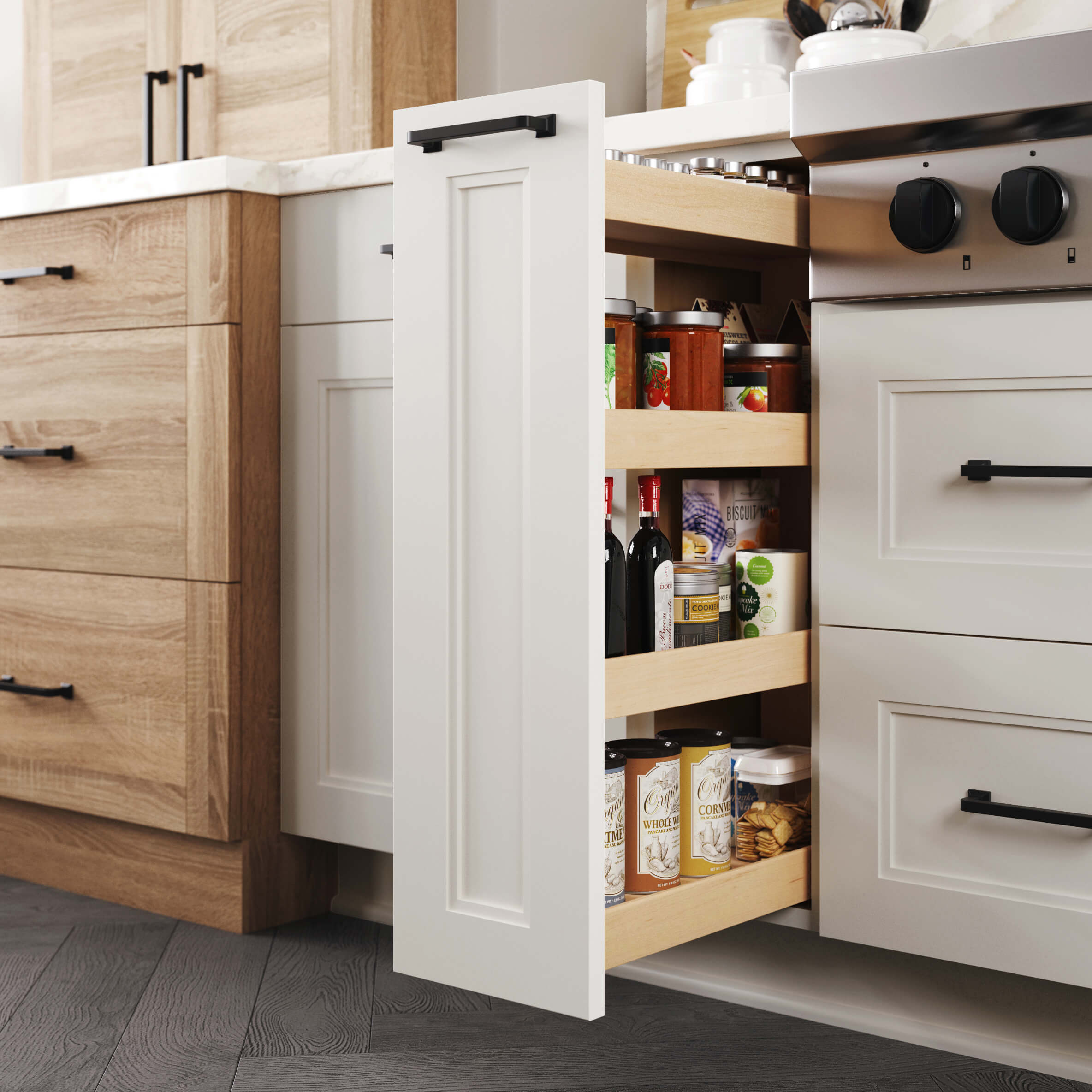 Base Pull-Out Pantry - Wood
