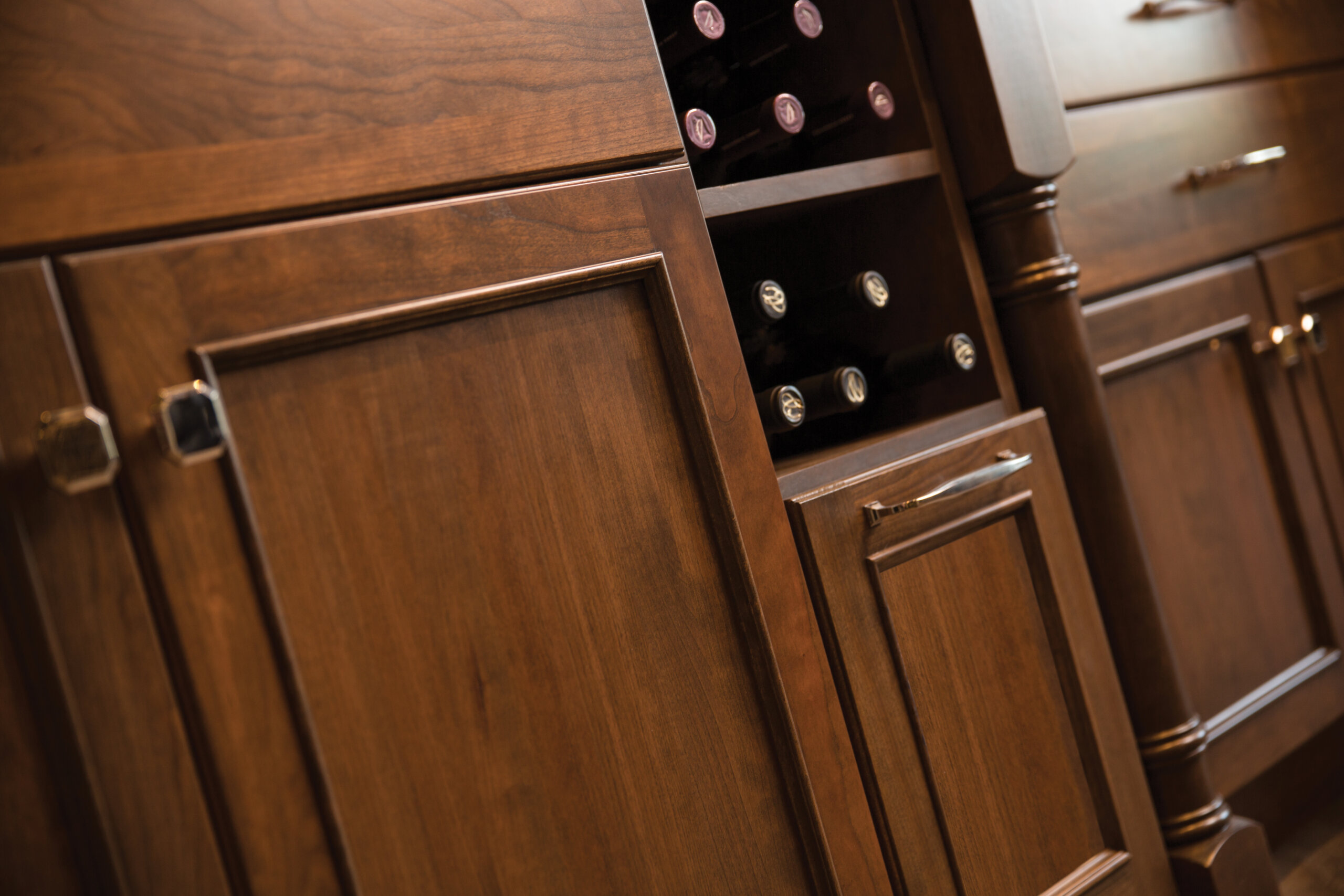 Open Cabinet for Wine Storage