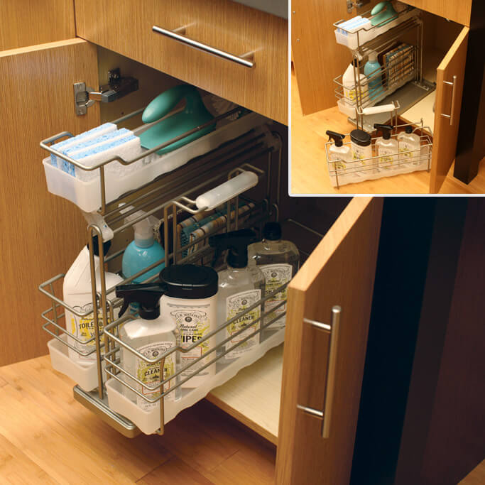 Sink Base Pull-Out Caddy