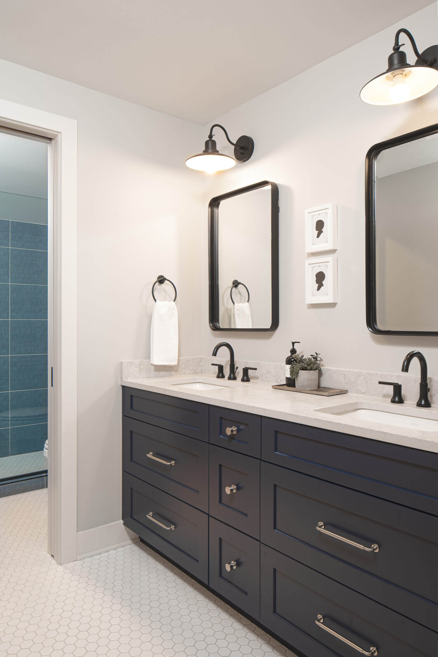 Cyber Space Master Bathroom Vanity Dura Supreme Cabinetry