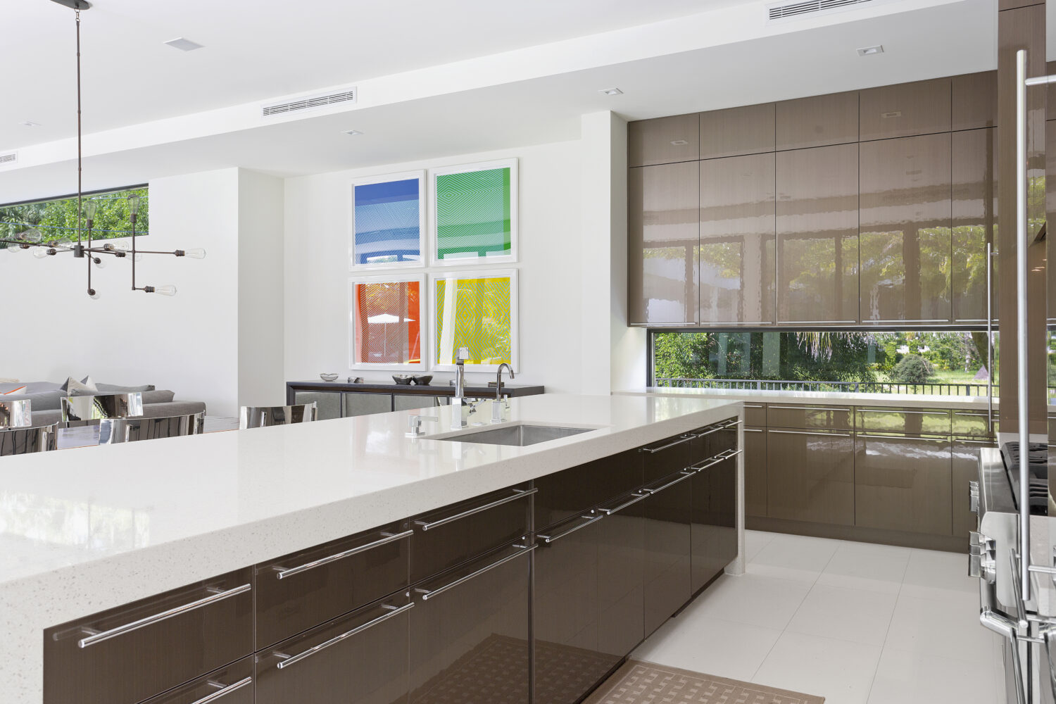 Contemporary Dura Supreme kitchen design by Danny McMullen of Distinguished Kitchens and Baths.