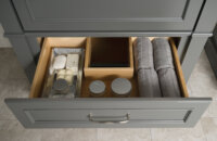 Dura Supreme Cabinetry Plumbing Drawer in Maple