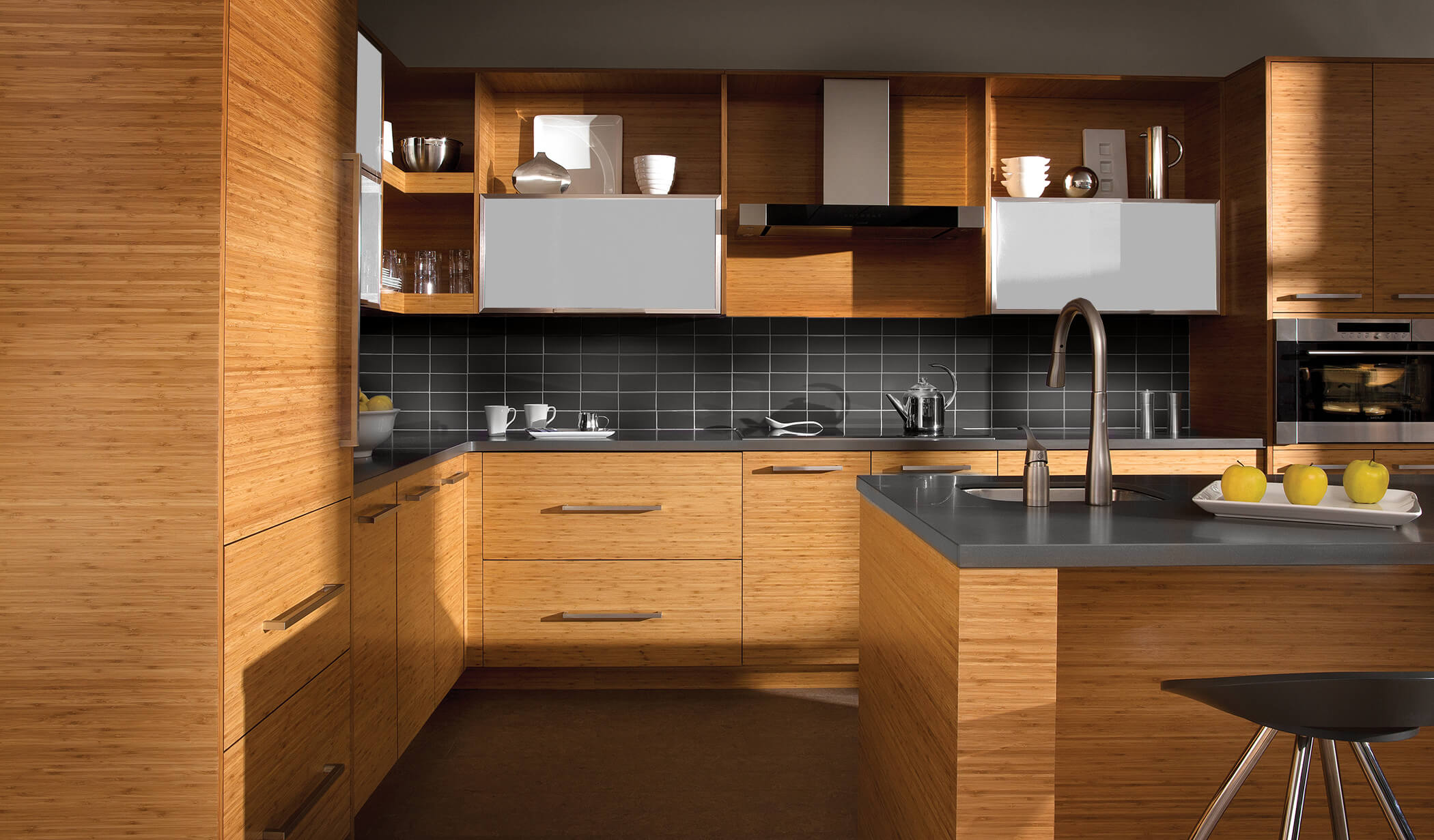 Trend Study Horizontal Grain Cabinets Make Kitchen Designs Modern ...