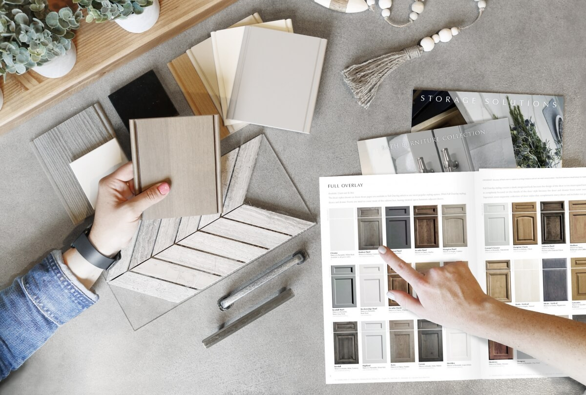 Color samples and brochures can be mailed to clients to assist in selection process