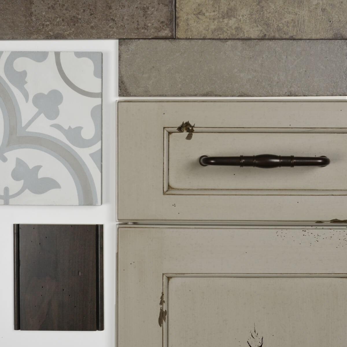 Dura Supreme's Highland Panel door style shown in the Heritage Paint