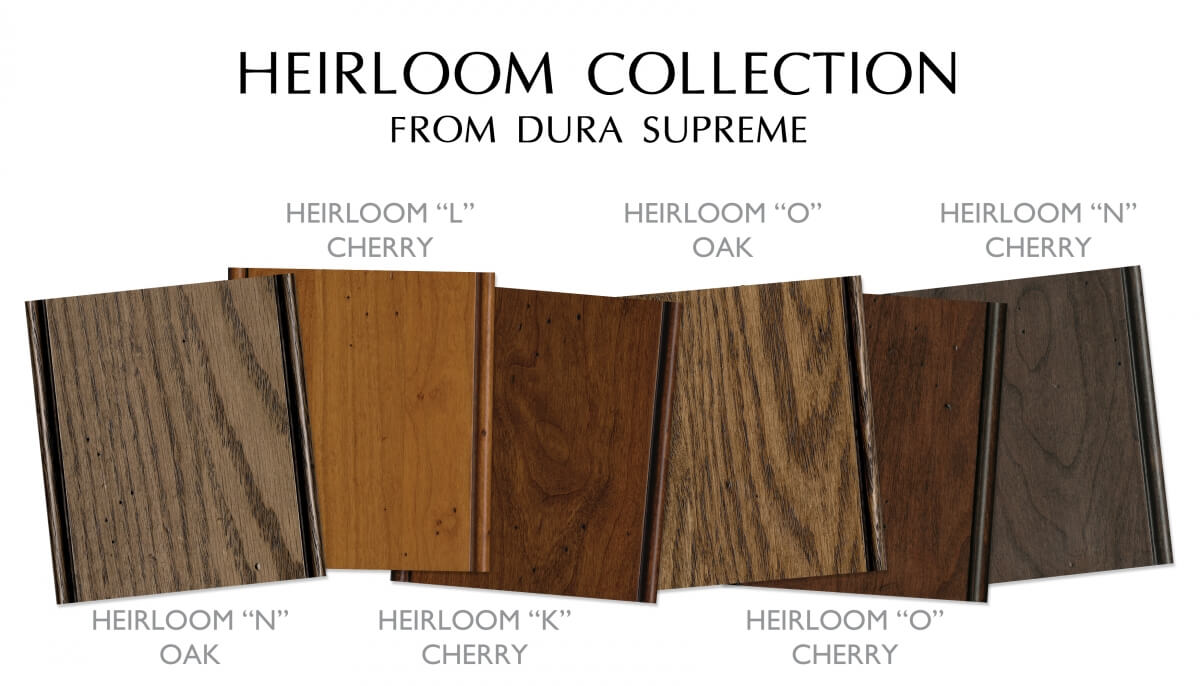 Dura Supreme Cabinetry's Heritage Paint Collection of finishes.