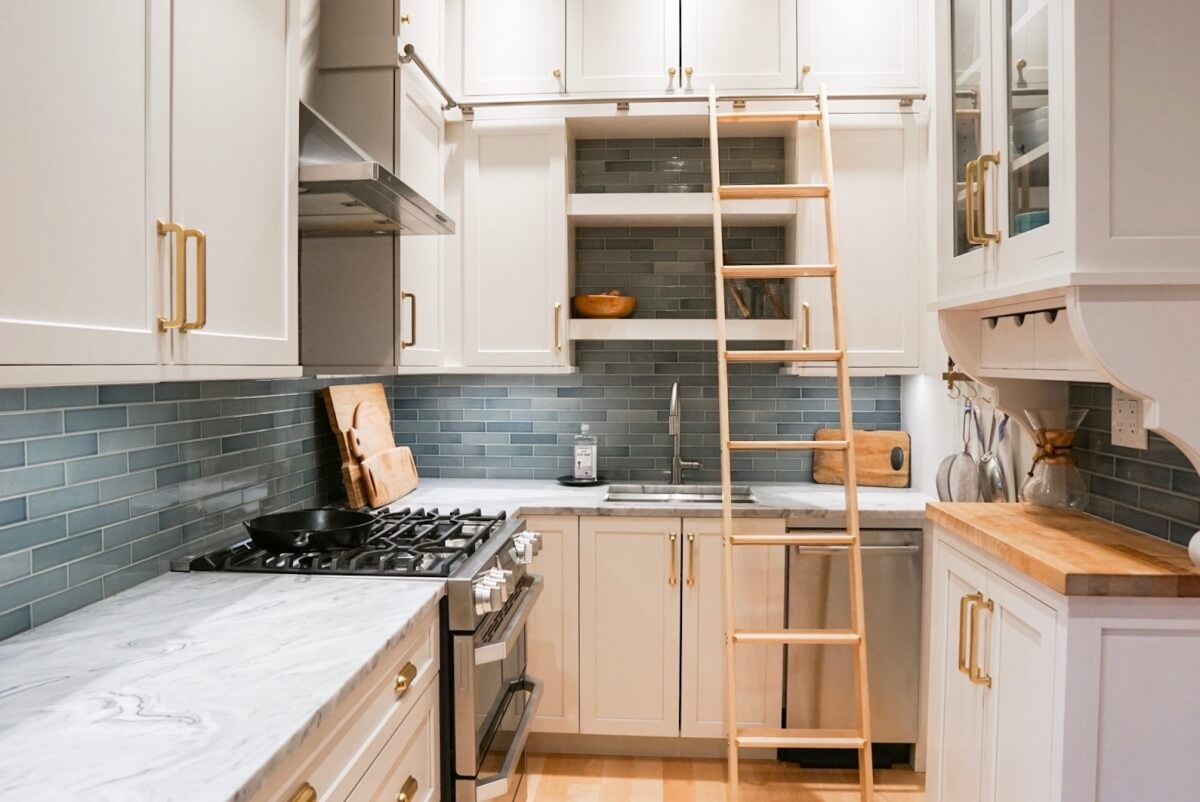 This Chicago couple loved their home within the historic neighborhood of Hyde Park, but they had outgrown their small and outdated kitchen. It was time to Remodel. After photo of historic kitchen renovation.