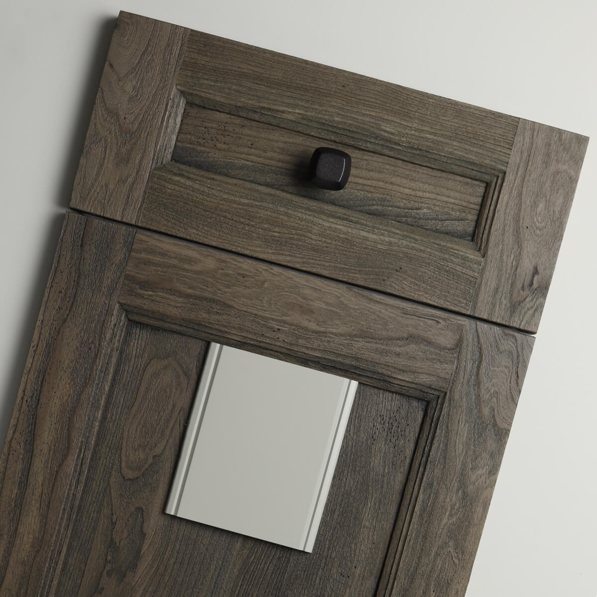 This Dura Supreme Cabinetry is shown in the Meridien door style in Weathered