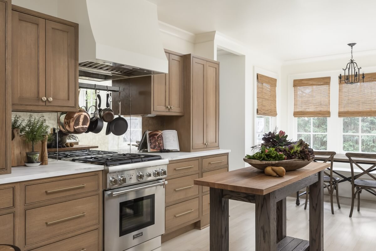 Dura Supreme Cabinetry shown in the Arcadia Inset door style with the