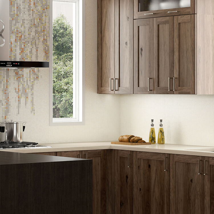 A Modern Twist On Hickory Wood Cabinets. Exploring Kitchen Design Trends.