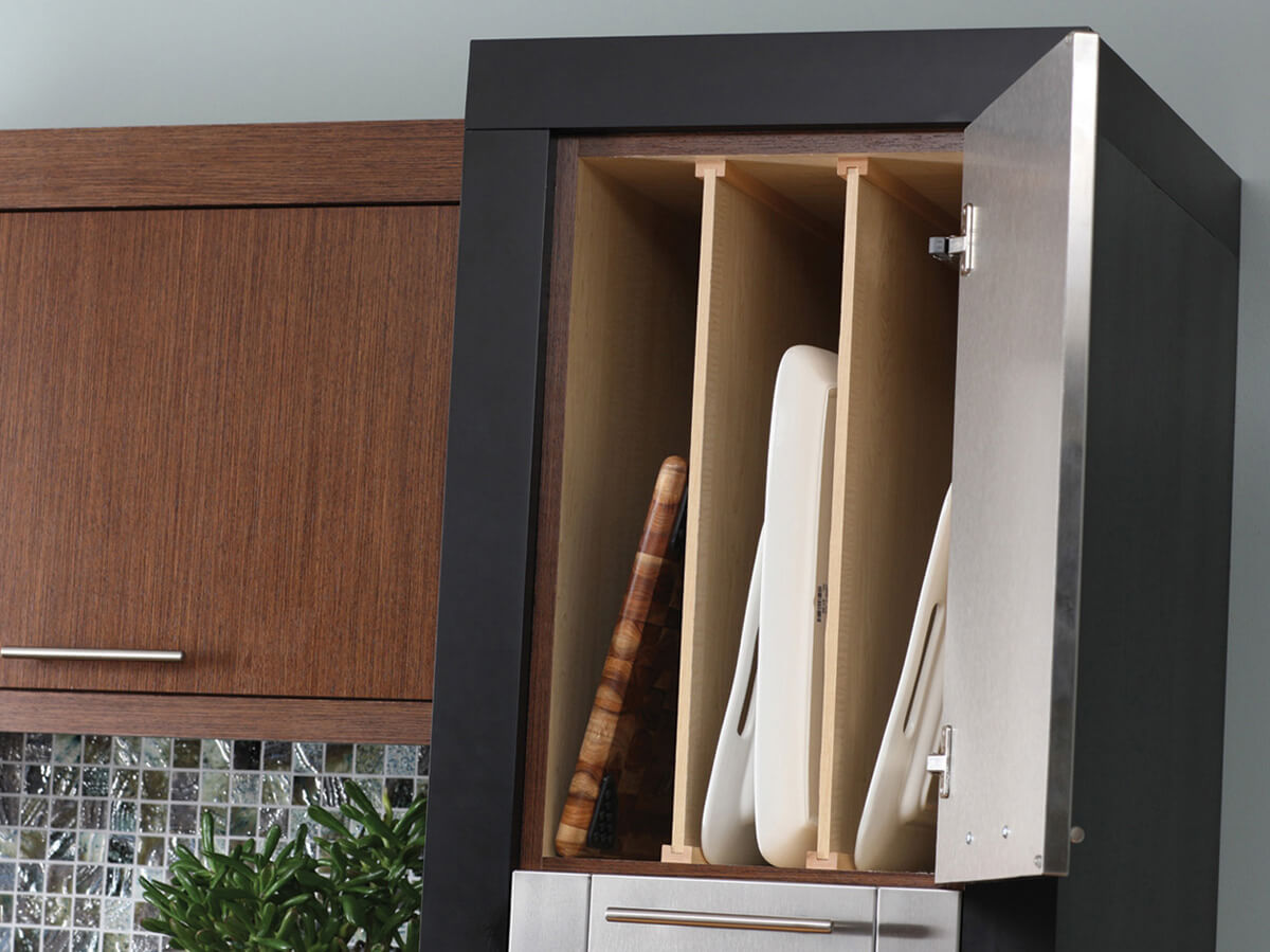 Dura Supreme's Tray Dividers are a convenient way to partition a cabinet for tray or cutting board storage. (Each includes 1 divider.)