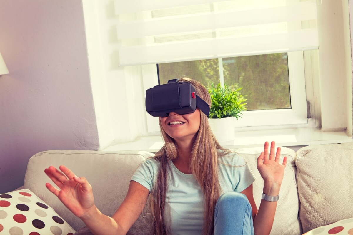 Walking through the newly designed space in Virtual Reality goggles