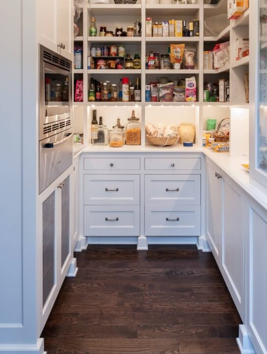 Microwave in Pantry, Design by Kristi Spouse Interiors, Seattle
